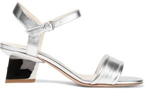 Nicholas Kirkwood Veronika Metallic Leather Sandals
