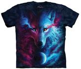 The Mountain Blue Light & Dark Wolf Crewneck Tee - Unisex