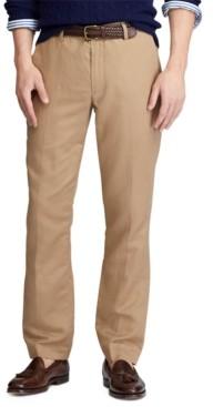 Polo Ralph Lauren Men's Big & Tall Straight Fit Linen-Blend Pants