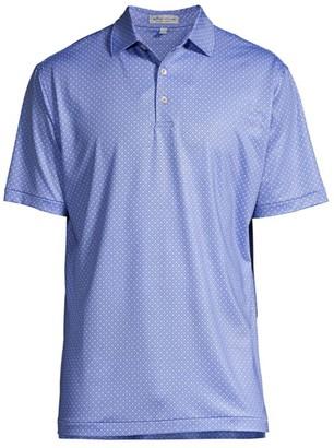 Peter Millar Pace Print Geometric Jersey Polo Shirt