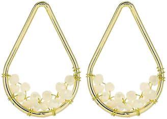 Panacea White Crystal Teardrop Earrings