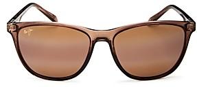 Maui Jim Women's Sugar Cane Polarized Mirrored Square Sunglasses, 57mm