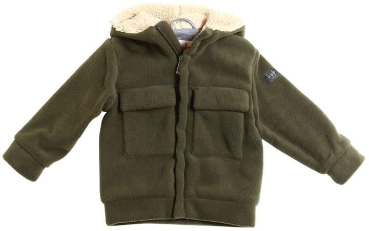 Il Gufo Fleece Jacket W/ Faux Shearling Hood