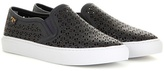 Tory Burch Lennon Perforated Leather Slip-on Sneakers
