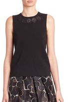 Piazza Sempione Embellished Wool Tank Top