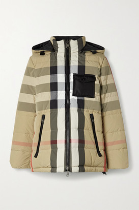 Burberry Reversible Checked Quilted Shell Down Jacket - Beige