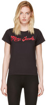 Marc Jacobs Black Glitter Logo T-shirt