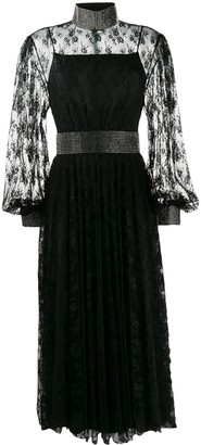 Christopher Kane Crystal Lace Pleated Dress