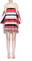 Nicholas 'Amalfi stripe' off-shoulder cotton dress