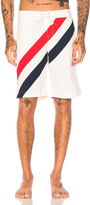 Thom Browne Diagonal Stripe Board Shorts