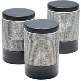 Salt&Pepper Set of 3 800ml Black Raww Stoneware Canisters