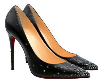 Christian Louboutin Degrastrass Black Leather Heels