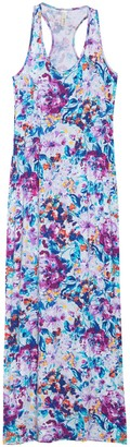 Loveappella Printed Racerback Maxi Dress