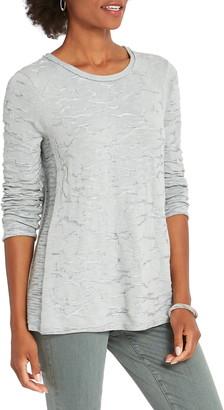 Nic+Zoe Easy Like Sunday Texture Pattern Tunic Sweater