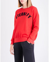 Sundry Eternity zip-sides cotton sweatshirt