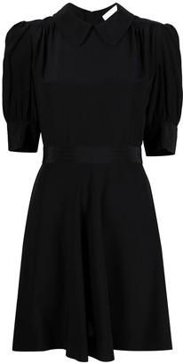 See by Chloe Puff-Sleeve Silk Minidress