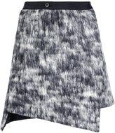 Nude asymmetric wrap skirt