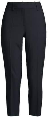 Theory Treeca Skinny-Leg Cropped Good Wool Suiting Pants