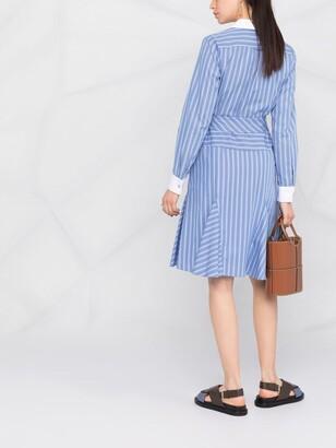 Lauren Ralph Lauren Inez wrap-around pinstripe dress