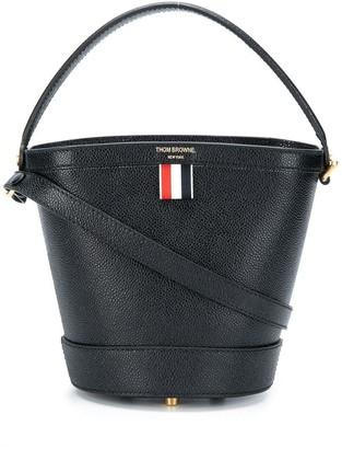 Thom Browne Pebbled Leather Sand Bucket Bag