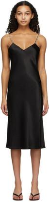 Kiki de Montparnasse Black Silk Pearl Slip Dress