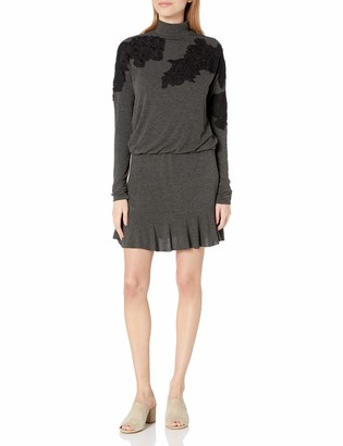 Bailey 44 Women's Sweater Dress Mini with Lace Applique