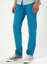 Topman Bright Blue Skinny Jeans