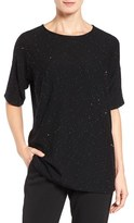 Eileen Fisher Women's Fine Merino Twinkle Knit Sweater