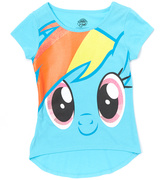 Jerry Leigh Blue My Little Pony Rainbow Dash Big Face Tee - Kids & Tween