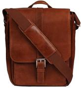 Wilsons Leather Mens Rugged Leather Tablet Bag Brown