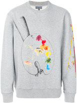 Lanvin embroidered sweater - men - Cotton - S