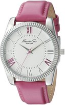 Kenneth Cole New York Kenneth Cole 10021683 38mm Stainless Steel Case Red Calfskin Mineral Women's Watch
