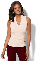 New York & Co. 7th Avenue - Chain-Link Detail Sleeveless Shirred Top