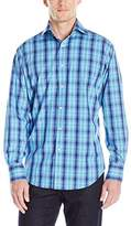 Thomas Dean Men's 2 Btn Sprd Cllr Poplin Check