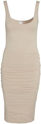 Black White Beige Dress 001 - Beige