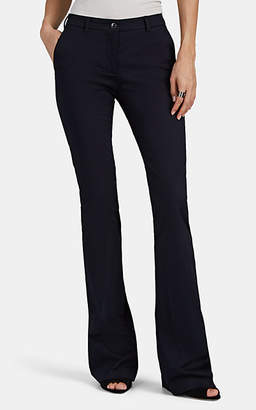 Pt01 Women's Elsa Cotton Flared Trousers - Navy