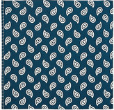 Fairfax Men's Mixed-Pattern Silk Twill Pocket Square-NAVY, WHITE