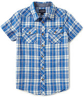 Lucky Brand Big Boys 8-20 Catalyst Short-Sleeve Plaid Woven Poplin Shirt