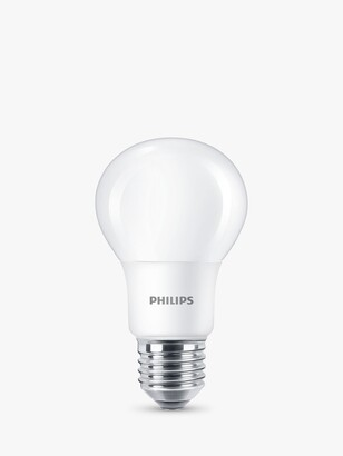 Philips 8W E27 LED Non Dimmable Classic Bulbs, Warm White, Set of 2