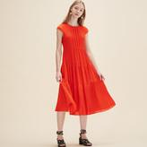 Maje Long dotted Swiss dress