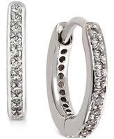 Eliot Danori Silver-Tone Crystal Pavé Huggy Hoop Earrings