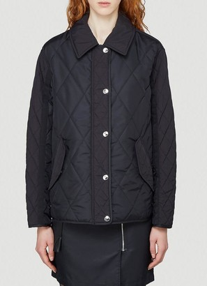 Burberry Logo Print Diamond Quilted Jacket
