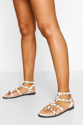 boohoo Stud Gladiator Sandal