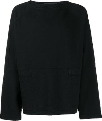 Craig Green Line Stitch Slash Neck Sweatshirt