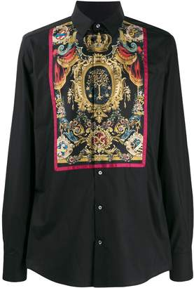 Dolce & Gabbana printed placket shirt