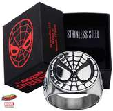 Marvel Men's Stainless Steel Spider-Man Face Ring With Jewelry Box (12 Size)