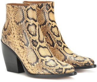 Chloé Exclusive to Mytheresa Rylee snake-effect leather boots