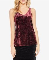 Vince Camuto Crushed Velvet Tank Top