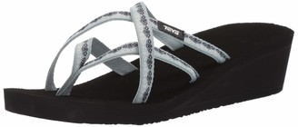 Teva Women's W MUSH Mandalyn Wedge Ola 2 Flip-Flop Chisolm Gray Mist 12 Medium US