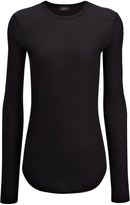 Joseph Cotton Cashmere Rib Top in Black